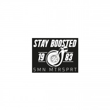 "Simon Motorsport Dubai Sticker ""Stay Boosted"""
