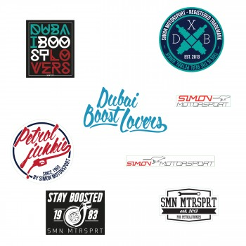 "Simon Motorsport Dubai 8x Sticker ""All the Best"""